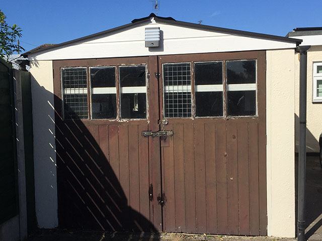 Garage Door Project, John Walters, Colchester - Before